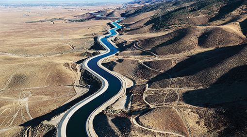 Photo of a winding river.