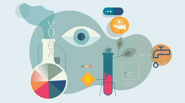 abstract illustration of research on health
