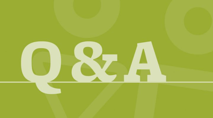 Q&A abstract graphic