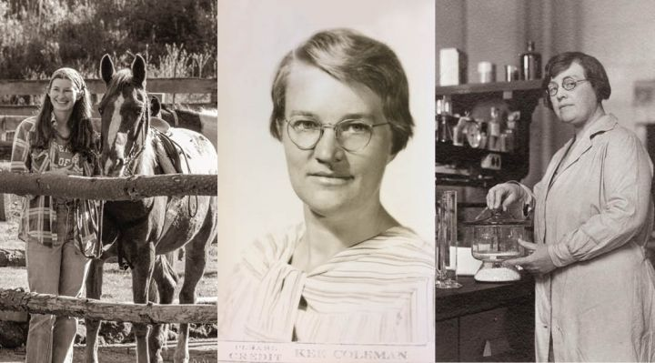 compilation of 2 images of women from CNR history