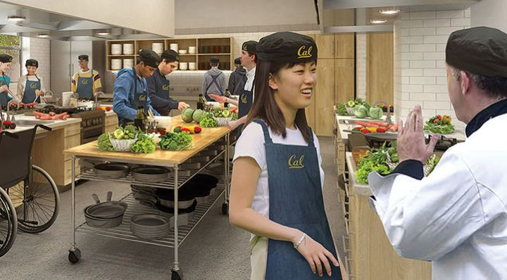 What Cal's teaching kitchen could possibly look like
