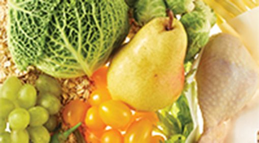 An array of fruits and vegitables