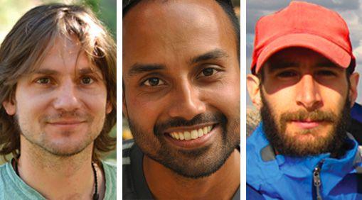 Marco Pfeiffer, Ranjit Deshmukh, and Adam Calo are graduate student newsmakers