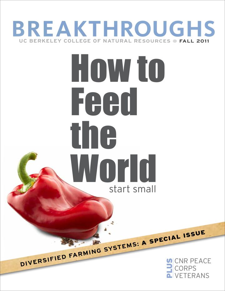 The Fall 2011 issue of breakthoughs features a story on how to feed the world